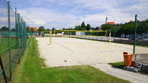 Ansicht Beach-Volleyballplatz